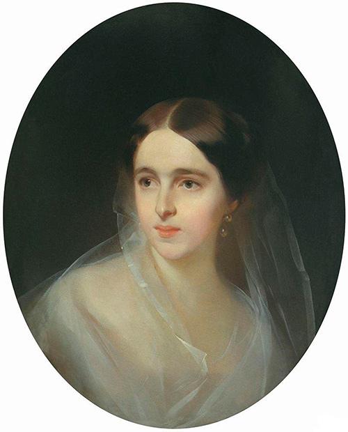 Портрет Н. Н. Ланской работы И. К. Макарова. Неранее 1851