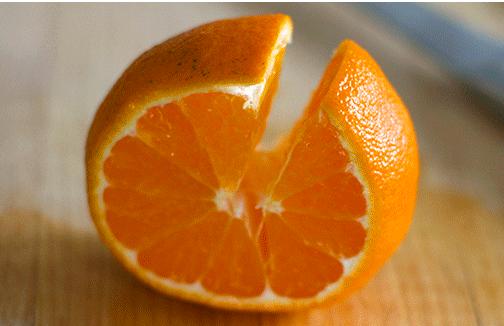 Как быстро очистить апельсин?