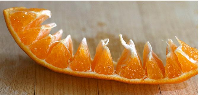Как правильно чистить апельсин?