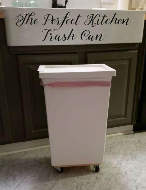 Лайфхаки с мусорным ведром. Вы не могли представить, как это просто и удобно.