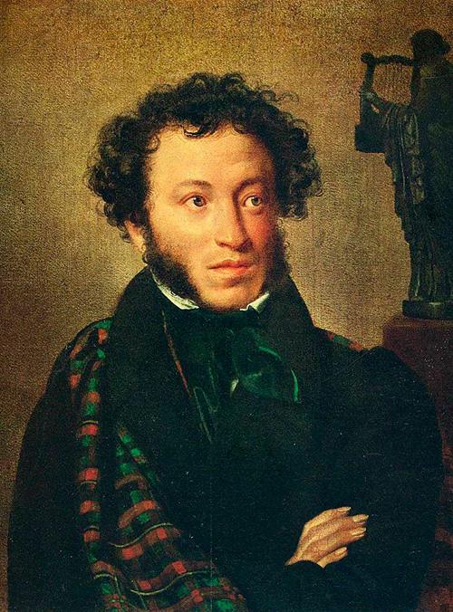 Александр Пушкин, портрет работы О. А. Кипренского
