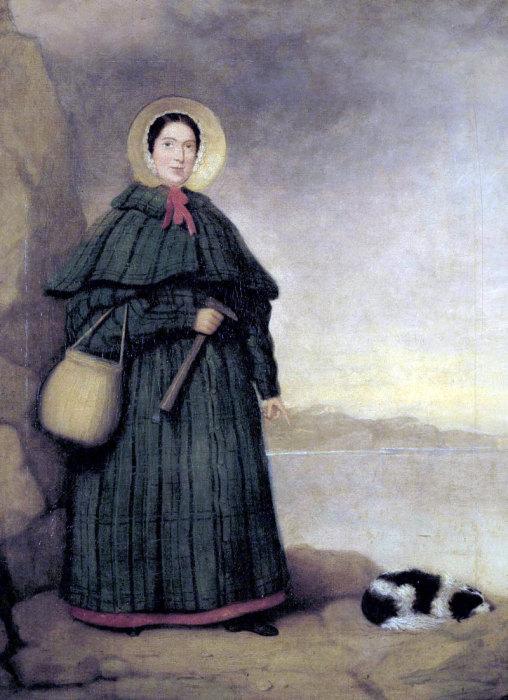 Мэри Эннинг иее собака Трей