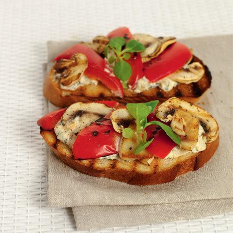 Рецепт тостов сшампиньонами иперцем