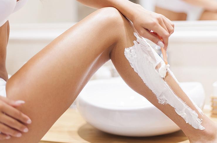 бритье ног