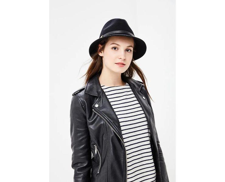 модель вкожаной куртке ишляпке