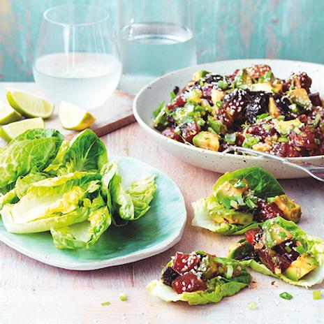 Рецепт салата со сладкой свининой иавокадо