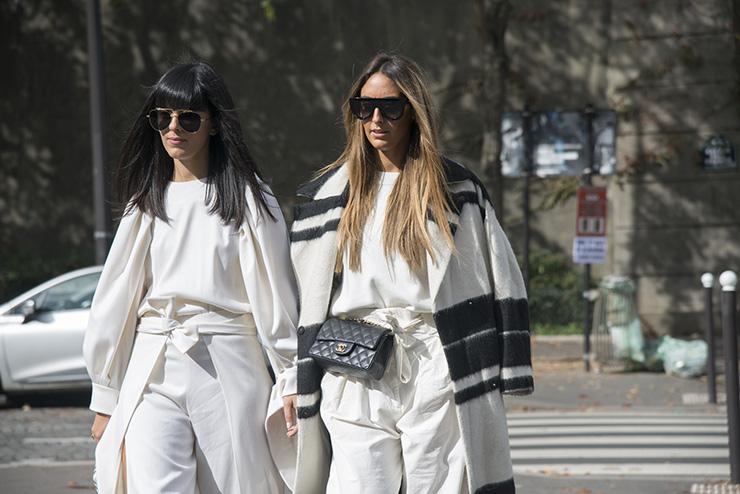 две девушки идут поулице