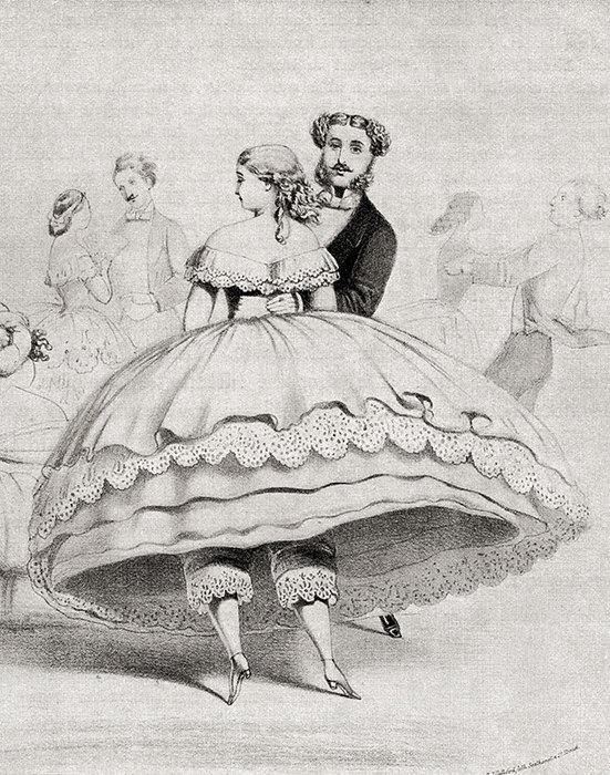 рисунок женщины имужчины во время танца