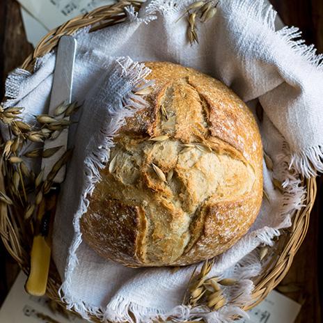 Рецепт двухцветного постного хлеба