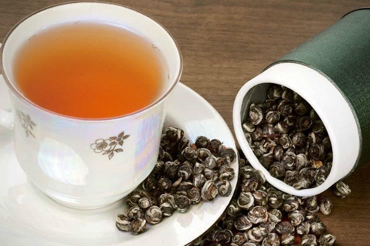 черного чая худеют во время