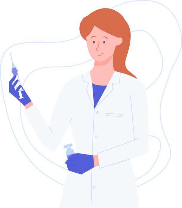 рисунок врача со шприцем