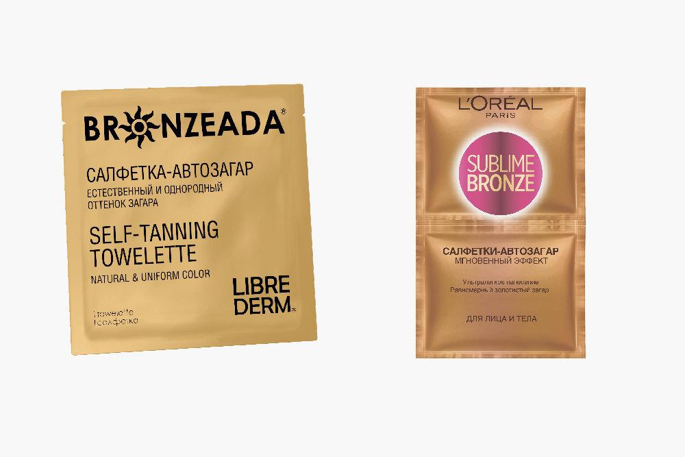 Салфетка-автозагар Bronzeada, Librederm;