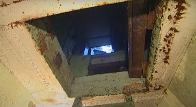 "Выход из бункера ""скопинского маньяка"", кадр YouTube фото"