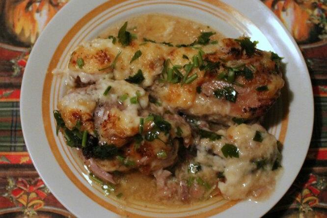 Ножки цыплёнка в кефирном соусе