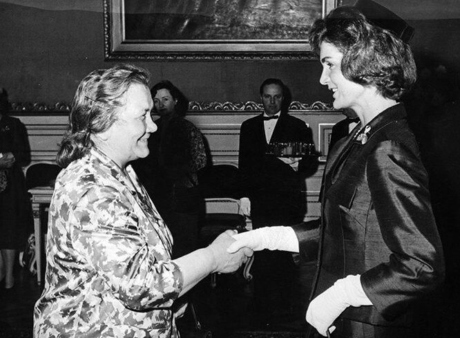 Нина Хрущева и Жаклин Кенеди