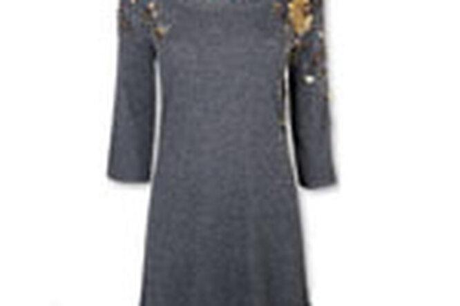Звездный стиль: трикотажное платье