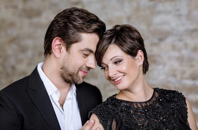 Виктория Талышинская с мужем