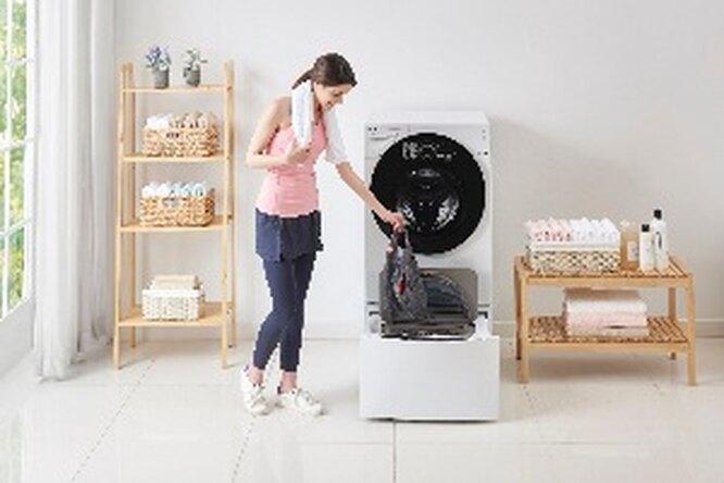 Двойное удобство сновой стиральной машиной  LG изкатегории TWINWash™