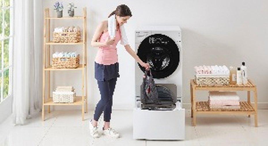 Двойное удобство сновой стиральной машиной  LG изкатегории TWINWash(tm)