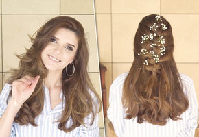 Коса, ниспадающая на плечи: видеоурок от блогера Ирины Акопян