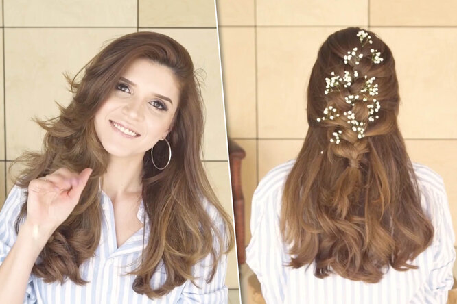 Коса, ниспадающая наплечи: видеоурок отблогера Ирины Акопян