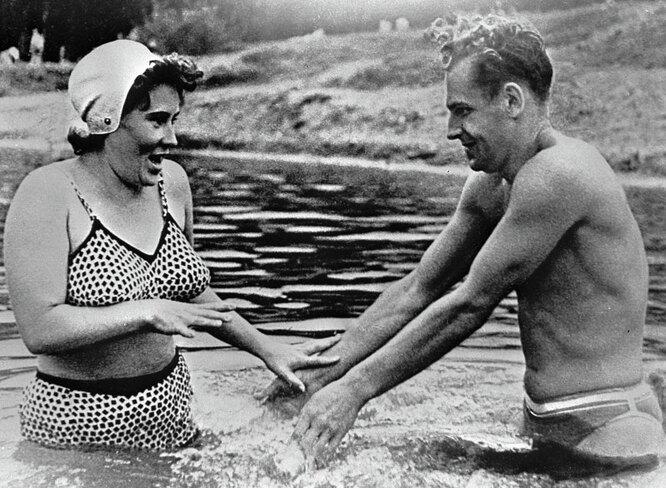 Герман Титов с женой Тамарой