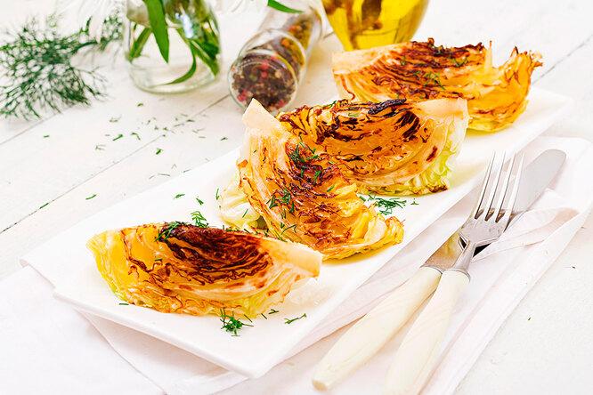 Рецепты капустных стейков с муссом из лисичек
