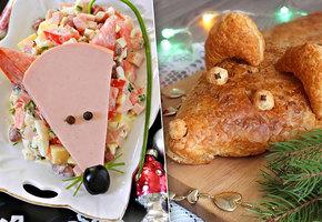 Новогодний стол: смешные и нелепые блюда в виде крысы