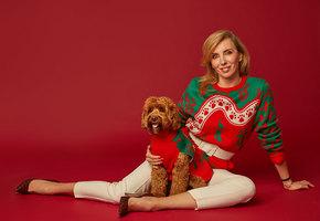 Светлана Бондарчук и ее собака Фанни снялись для лукбука Алены Ахмадуллиной
