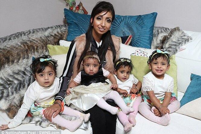 Была бесплодной, стала многодетной. Задевять месяцев унее появилось четверо детей