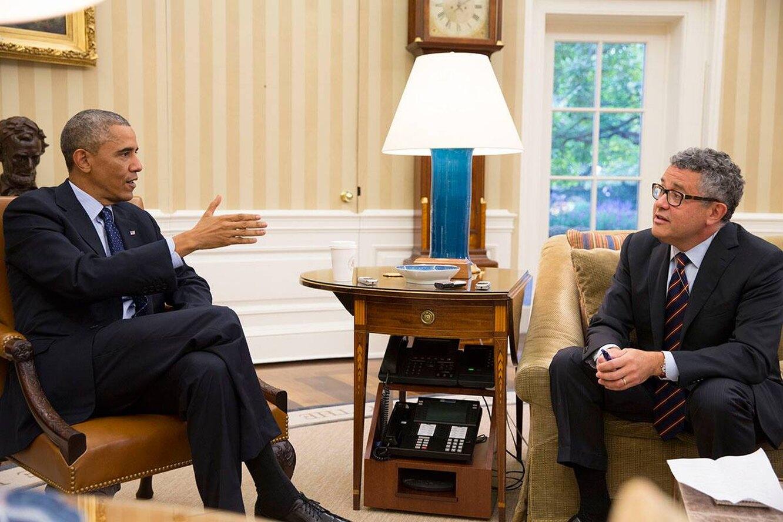Джеффри Тубин берет интервью у Барака Обамы