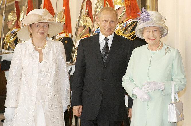 Людмила Путина, Владимир Путин, королева Елизавета