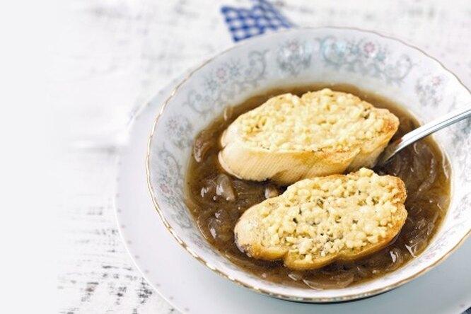 Луковый суп с анисом