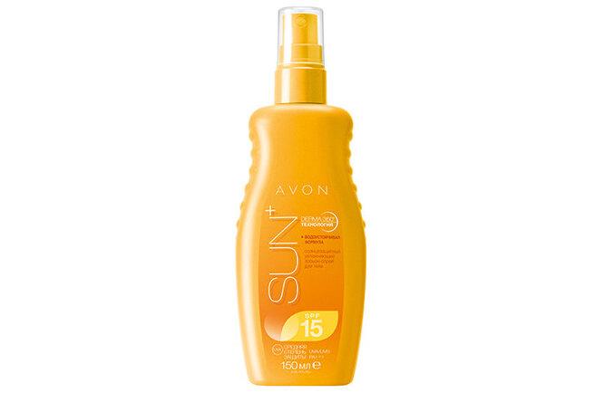 Солнцезащитный увлажняющий лосьон-спрей для тела SPF 15 от Avon