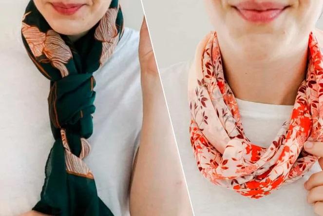 Как красиво завязать платок и шарф на шее: 6 интересных способов