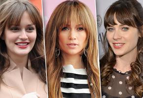 Выбираем челку: 25 звездных голливудских причесок для длинных волос