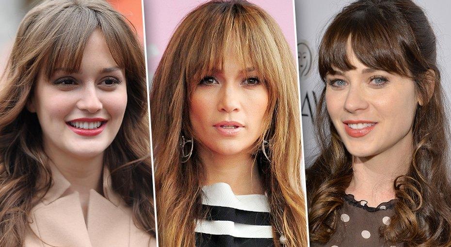 Выбираем челку: 25 звездных голливудских причесок длядлинных волос
