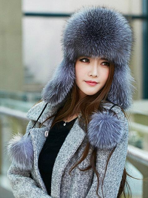 Меховая шапка-ушанка для женщин