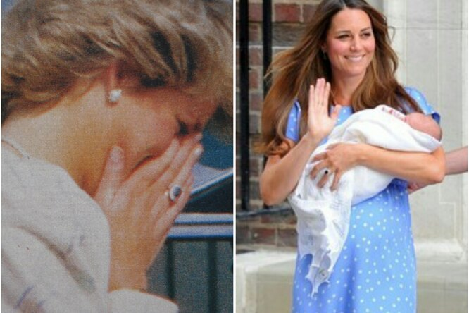 Невероятное фото: принцесса Диана впервые  видится со своей внучкой, маленькой Шарлоттой