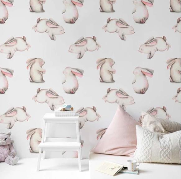 Тиффолино, обои с кроликами для детской комнаты