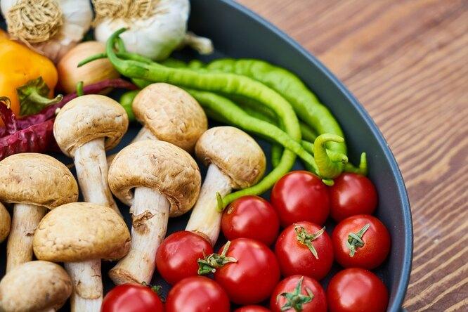 Грибы, овощи