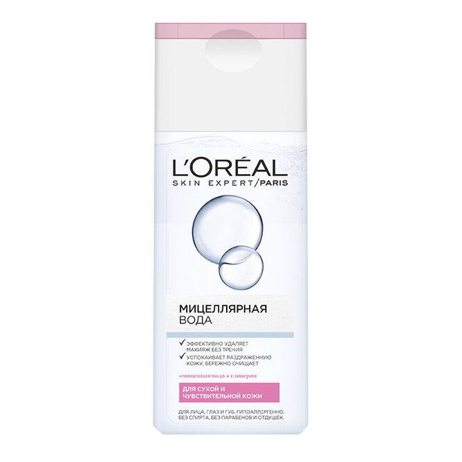 Мицеллярная вода с глицерином для сухой и чувствительной кожи, L'Oréal Paris