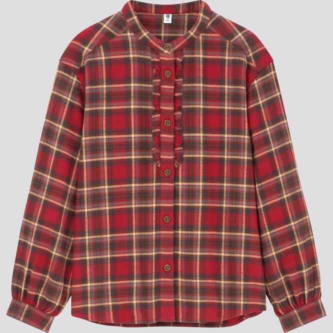 Блузка из фланели, 999 руб.