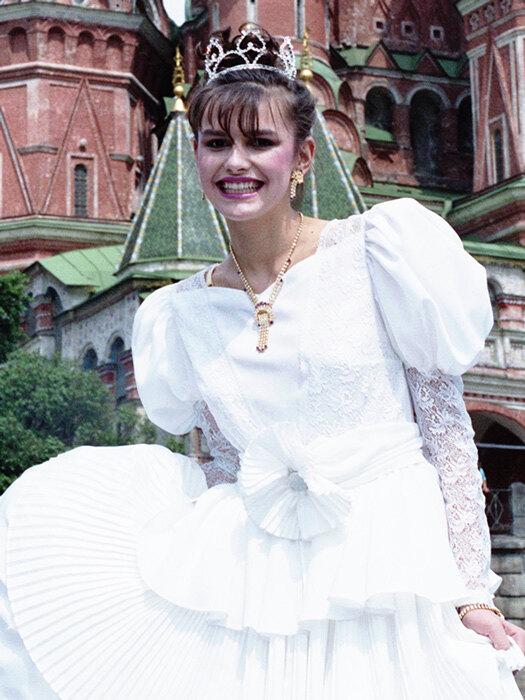 Победительница конкурса Мария Калинина на Красной площади