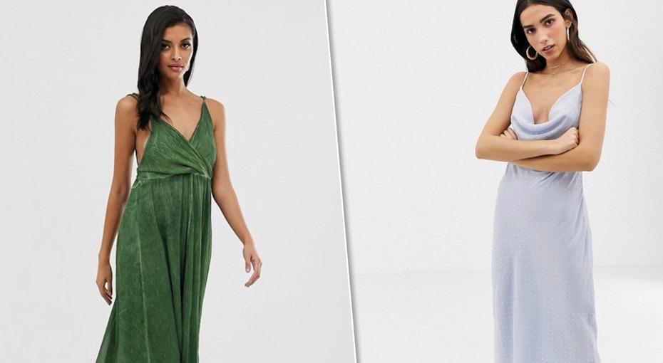Свидание летним вечером: 7 элегантных платьев натонких бретелях