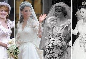 Замуж за принца: 10 самых роскошных свадебных платьев в истории британской монархии