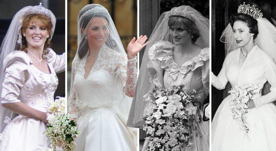 Замуж запринца: 10 самых роскошных свадебных платьев вистории британской монархии