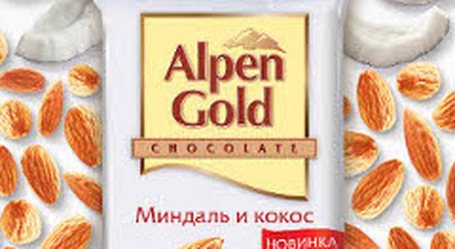 Alpen Gold  -  белый шоколад c миндалем икокосом