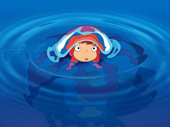 Рыбка Поньо на утесе