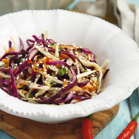 Рецепт капустного салата по-азиатски